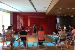 Atelier meditation galerie Lafayette de Paris- Avec petit bambou - Sylvie Chabas